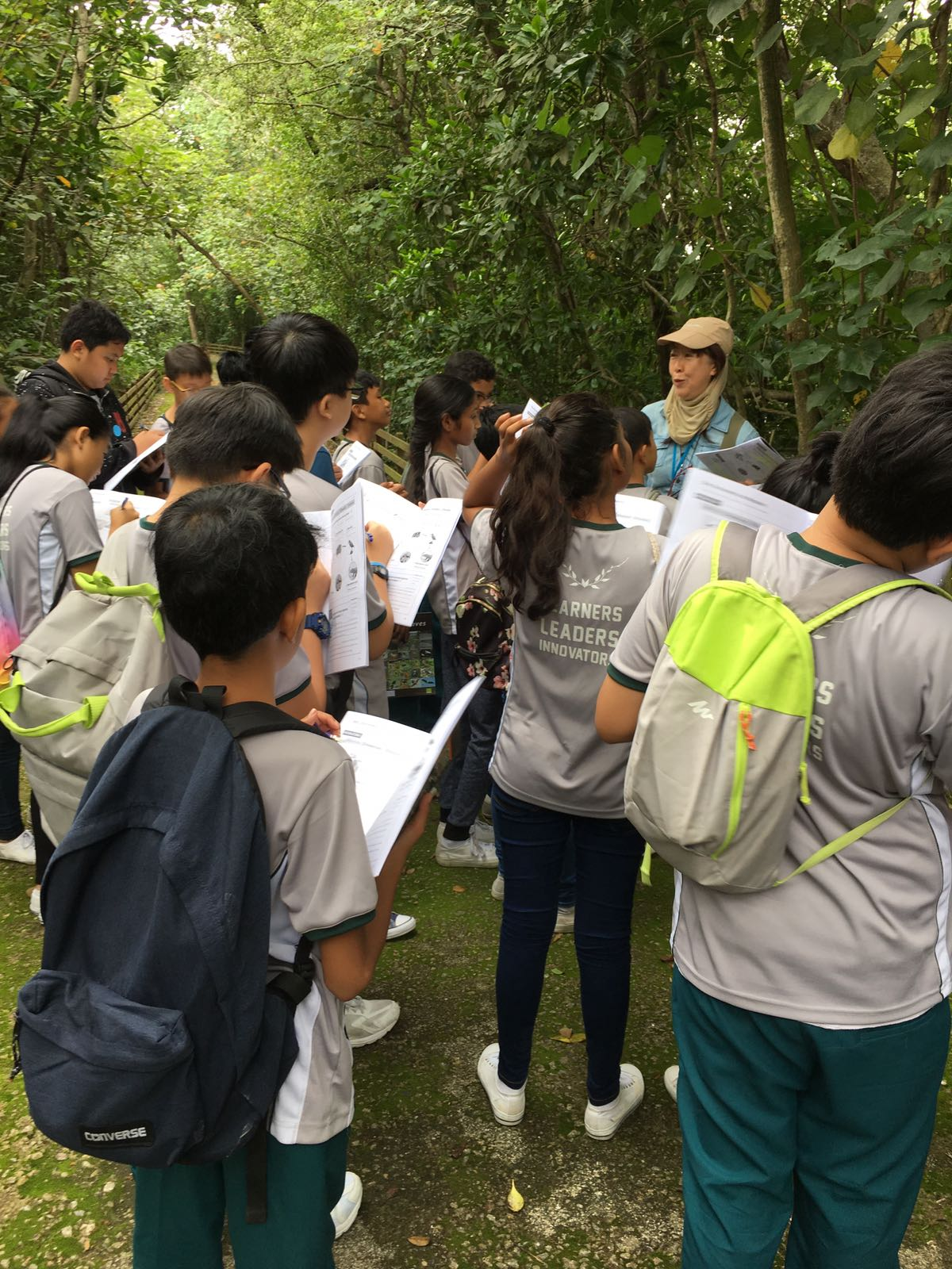 Sec 1 students getting close to nature at Sungei Buloh..JPG